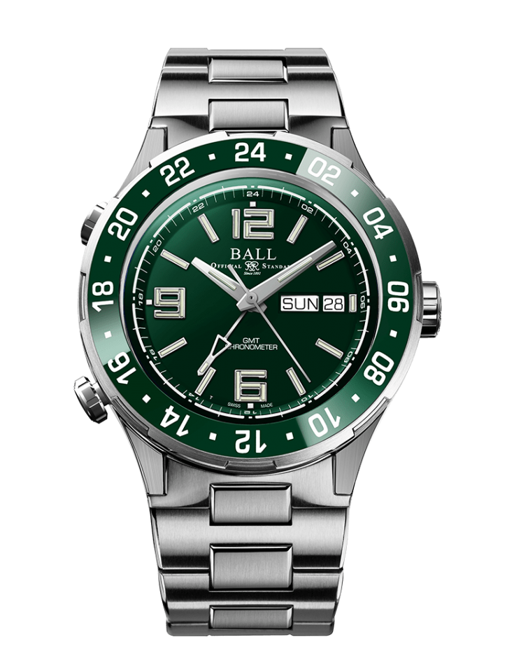 PREORDER BALL DG3030B-S5C-GR Roadmaster Marine GMT HULK LIMITED EDITION Watch