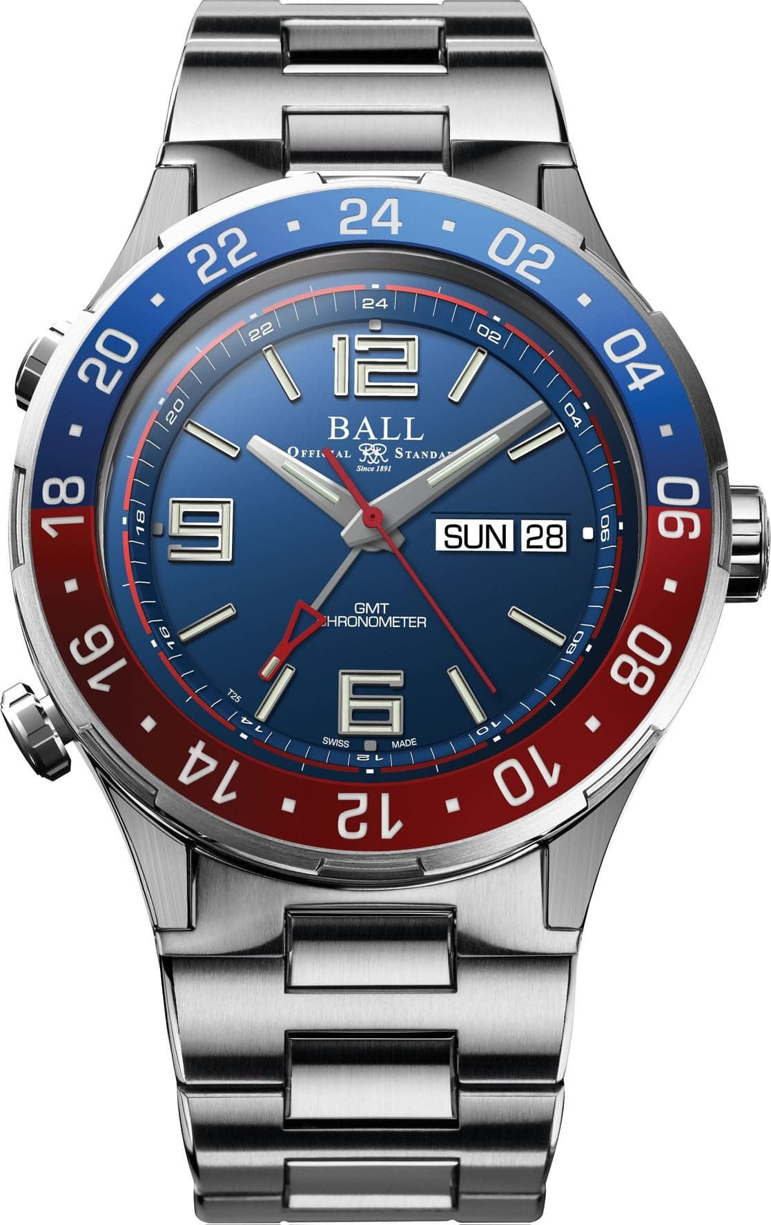 BALL DG3030B-SCJ-BE Roadmaster Marine GMT LIMITED EDITION 40mm Watch