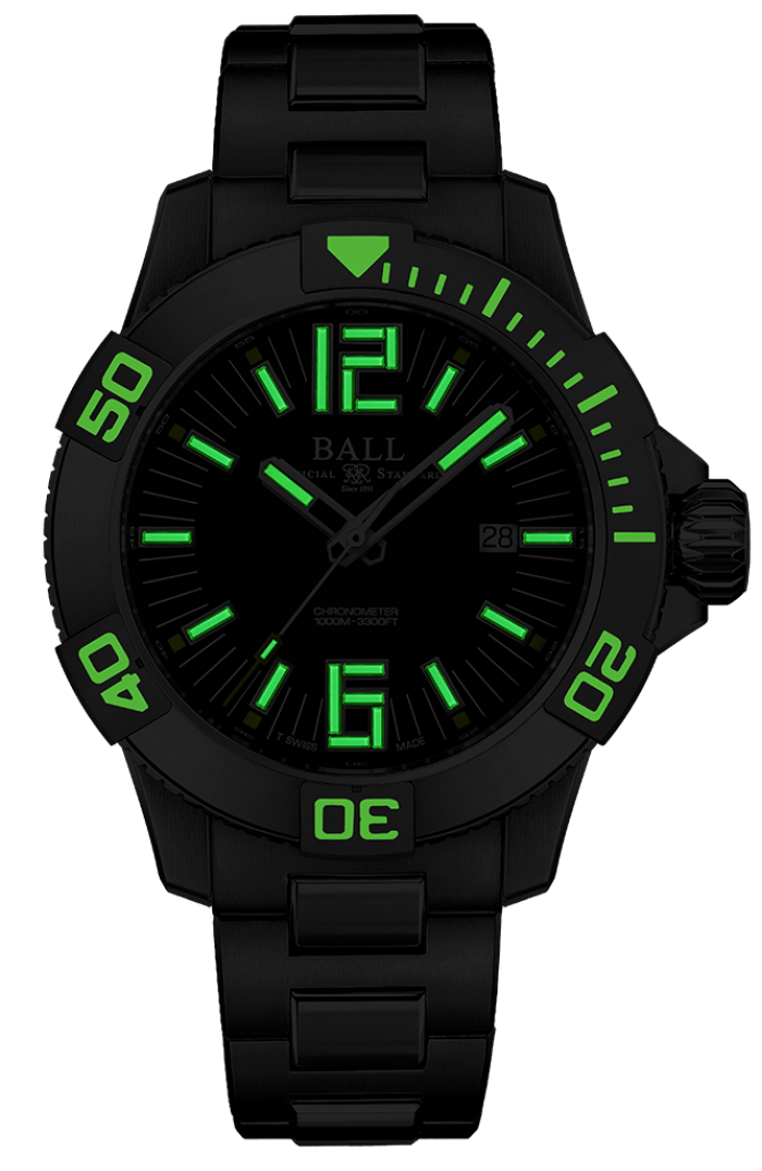 PREORDER BALL DM3002A-S2C-BK Hydrocarbon Black Dial Automatic Watch