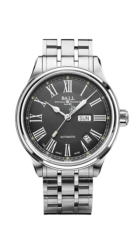 BALL NM1058D-S4J-GY Trainmaster Roman Grey Dial Grey Dial 41mm Watch