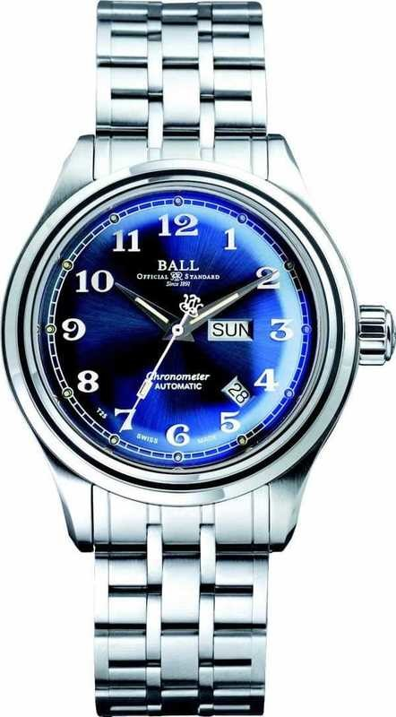 BALL NM1058D-SCJ-BE Trainmaster Cleveland Express COSC Blue Dial 41mm Watch