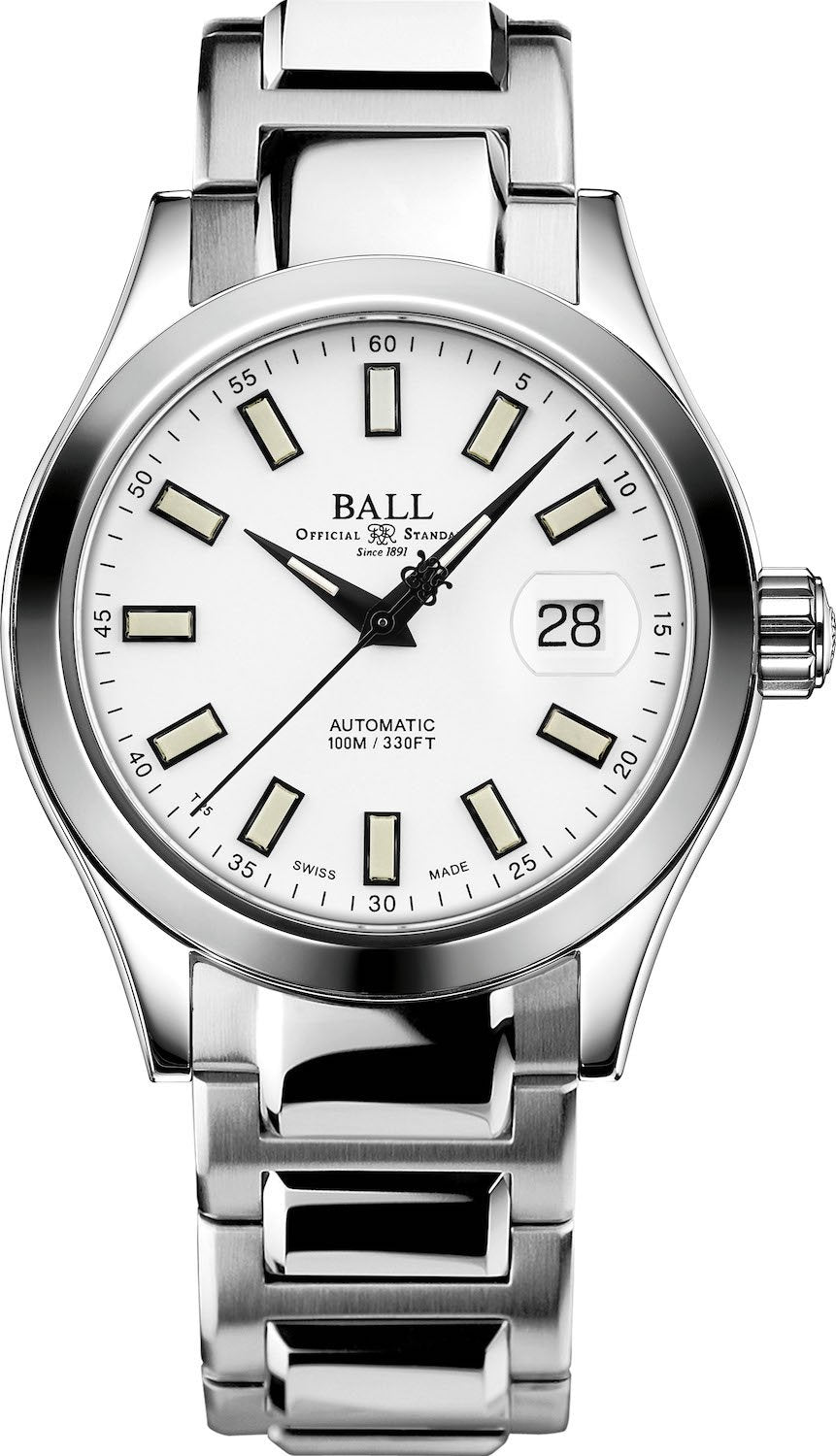BALL NM2026C-S10J-WH Engineer II Marvelight 40mm White Dial Watch