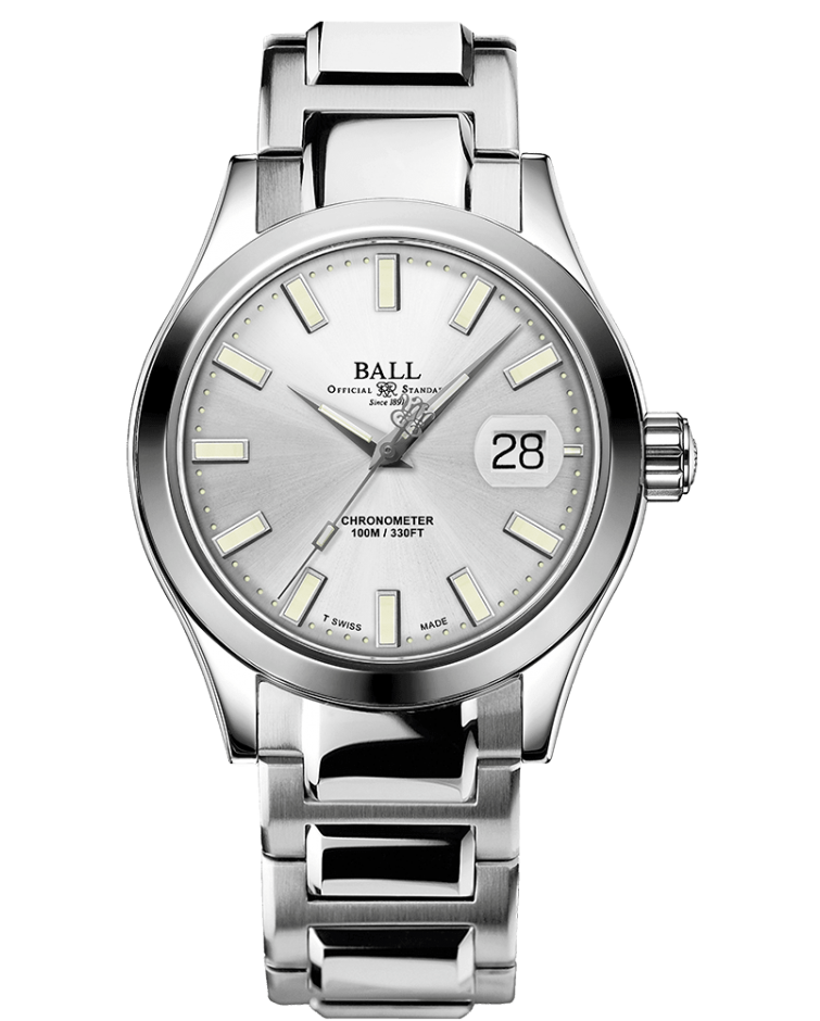 BALL NM2026C-S27C-SL Engineer III Marvelight Limited Edition Silver Dial Watch