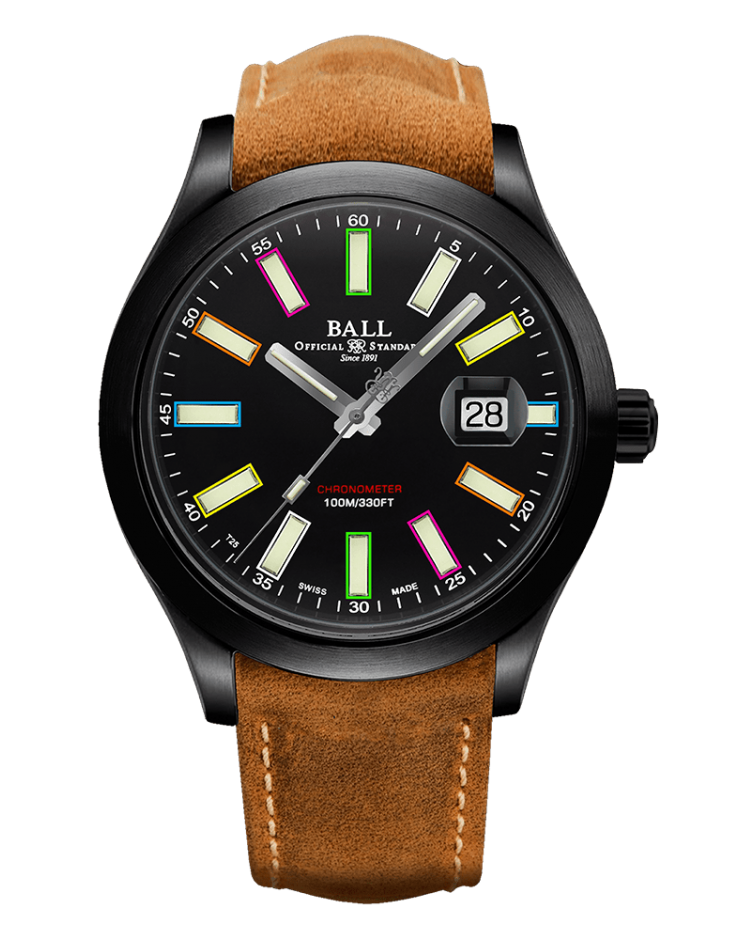BALL NM2028C-L28CJ-BK Engineer II Caring Rainbow Limited Edition 43mm Watch
