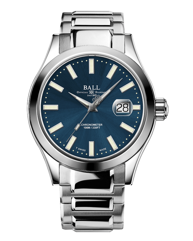 BALL NM2028C-S27C-BE Engineer III Marvelight Limited Edition 43mm Blue Dial Watch