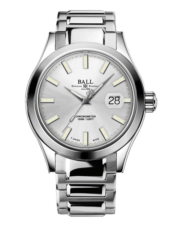 BALL NM2028C-S27C-SL Engineer III Marvelight Limited Edition 43mm Silver Dial Watch