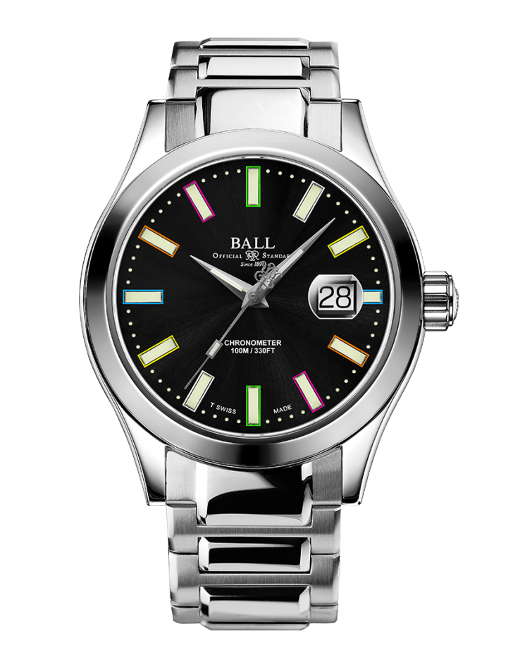 BALL NM2028C-S29C-BK Engineer III Marvelight Limited Edition Caring Edition Black Rainbow Dial Watch