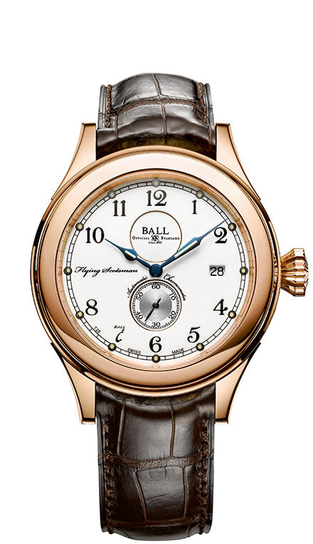 BALL NM2198D-PG-LCJ-WH Trainmaster Flying Scotsman 18k Gold 42mm Case LIMITED EDITION Watch