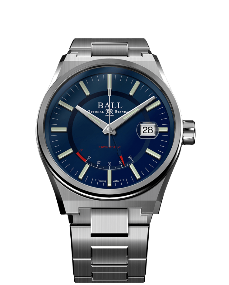 BALL PM3030C-S-BE Roadmaster Icebreaker 40mm Limited Edition Blue Dial Watch