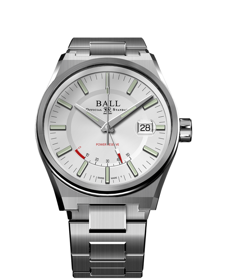 BALL PM3030C-S-WH Roadmaster Icebreaker 40mm Limited Edition White Dial Watch