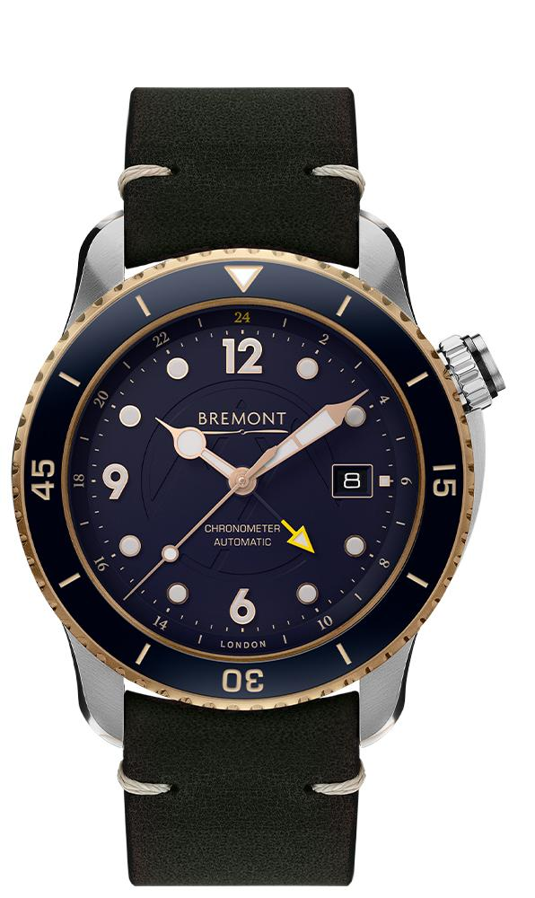 Bremont Men's PROJECT POSSIBLE LIMITED EDITION Automatic Leather Strap Watch PROJECT-POSSIBLE-S