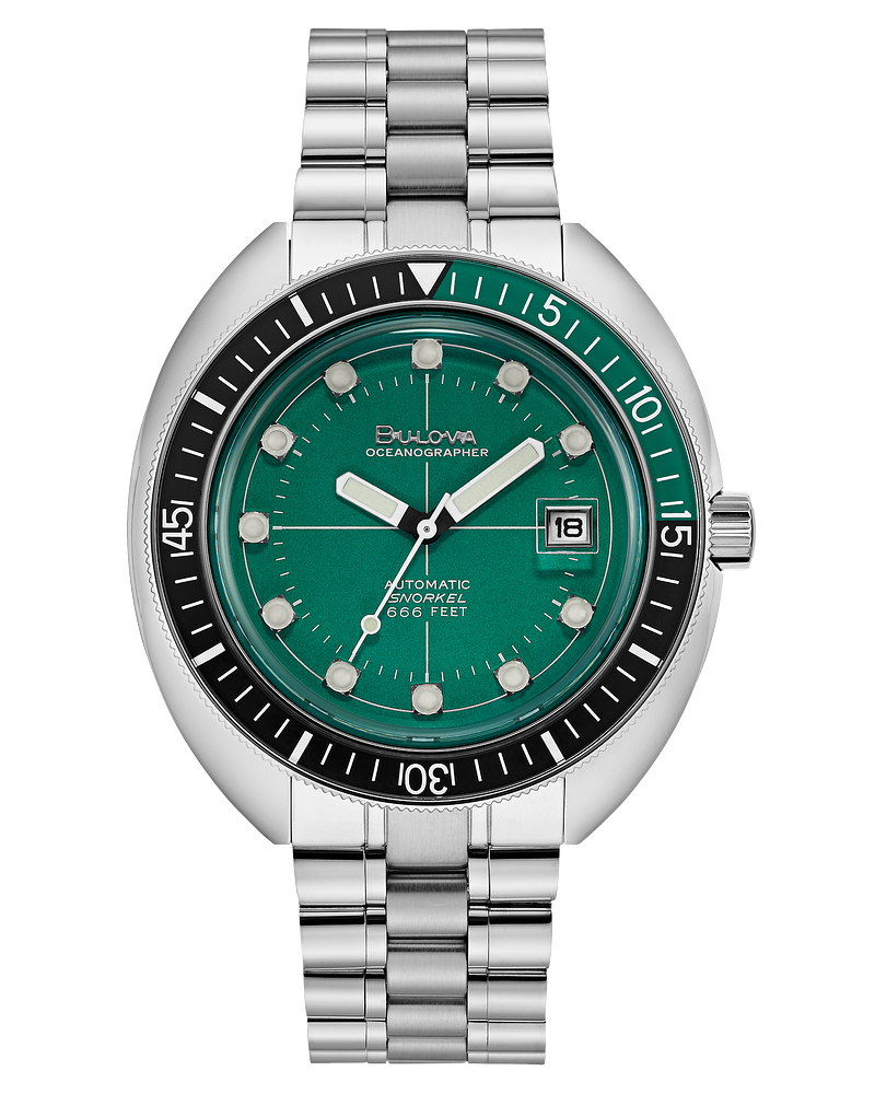 Bulova 96B322 Special Edition Devil Dilver Automatic Green Dial 44mm Watch