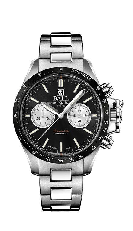 BALL CM2198C-S1CJ-BK Engineer Hydrocarbon Racer Chronograph 42mm Watch