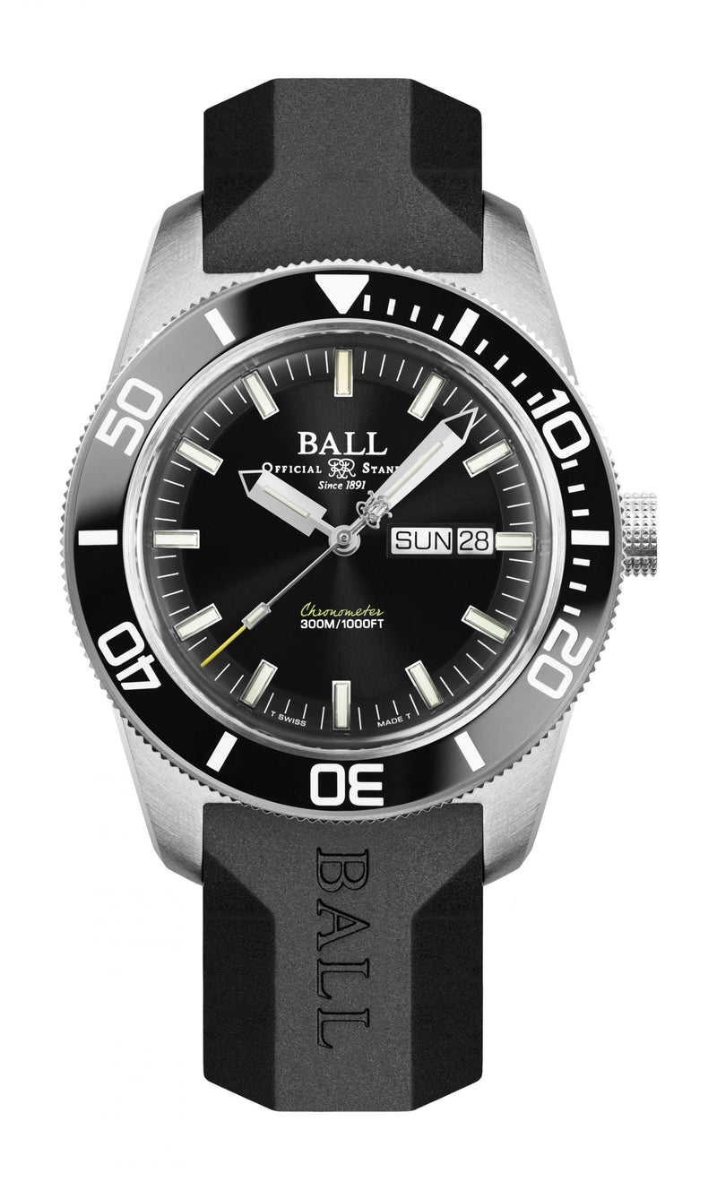 BALL DM3308A-PC-BK  Engineer Master II Skindiver Heritage 42mm Watch