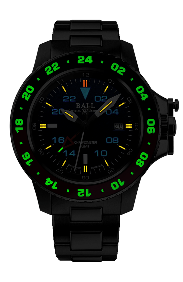 BALL DG2118C-S11C-BK Engineer Hydrocarbon AeroGMT 40mm Watch
