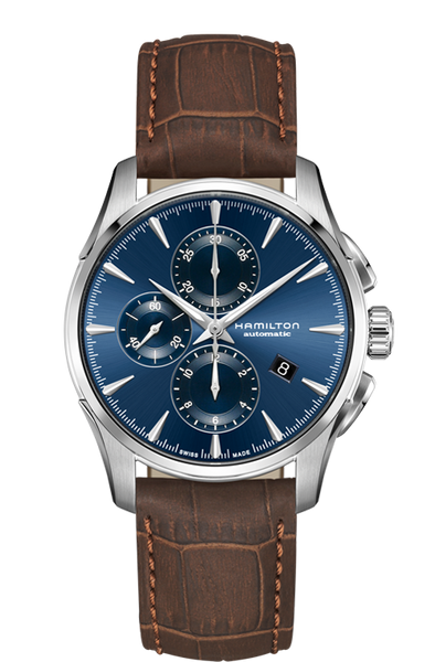 Hamilton H32586541 Automatic Chrono Leather Strap Blue Dial Watch