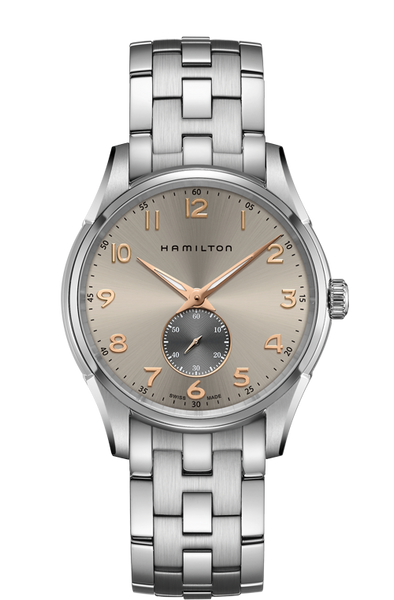 Hamilton Jazzmaster H38411180 Thinline Small Second Grey Dial Quartz Watch