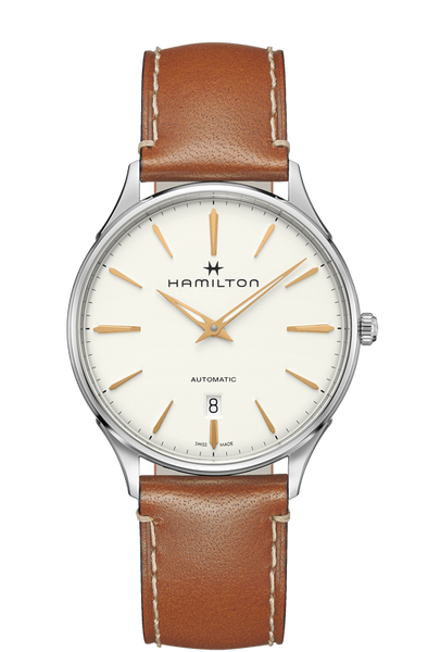 Hamilton Jazzmaster H38525512 Thinline  White Dial Automatic Watch