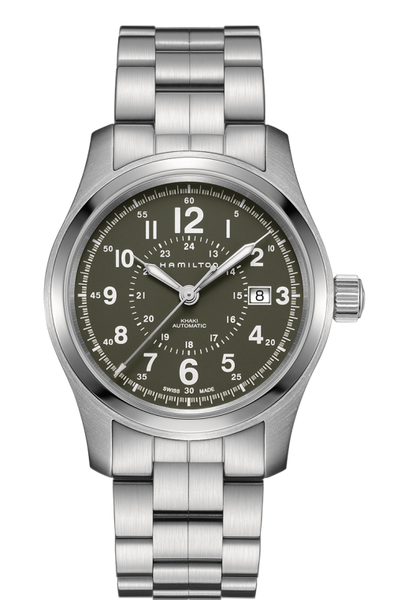 7cf13162416 Hamilton Khaki Field H70605163 Stainless Steel Automatic Watch ...