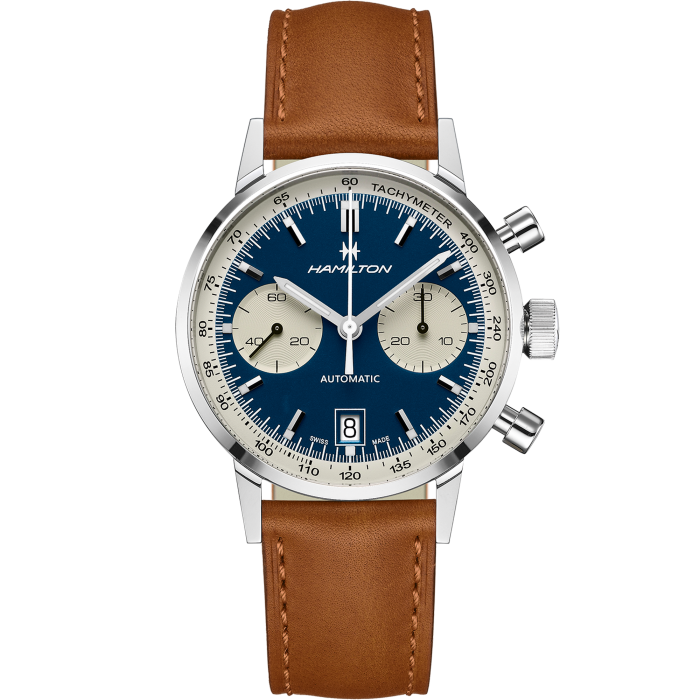 Hamilton H38416541 Intra-Matic Automatic Chronograph Brown Leather Watch