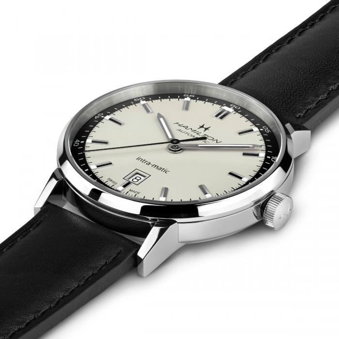 Hamilton H38425720 Intra-Matic Black Leather Automatic 40mm Watch