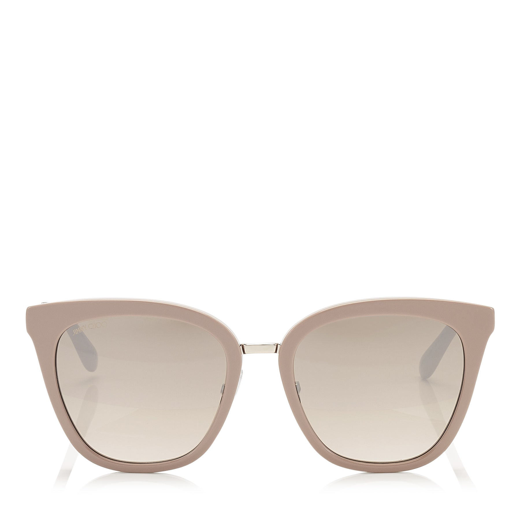 JIMMY CHOO Fabry Nude Acetate Cat-Eye Sunglasses with Glitter Detail ITEM NO. FABRYS53EKDZ