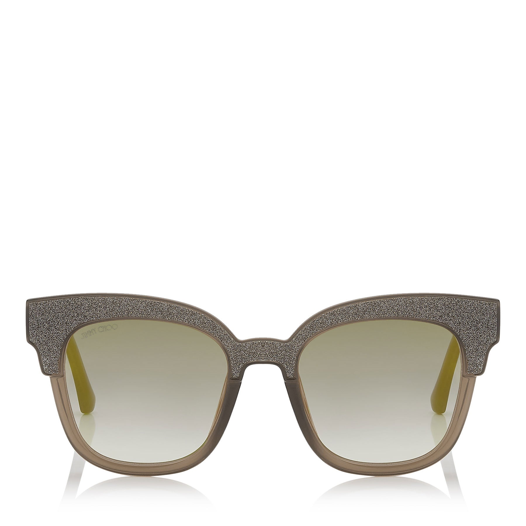 JIMMY CHOO  Mayela Mud Cat-Eye Sunglasses with Mud Crystal Fabric ITEM NO. MAYELAS50E19A