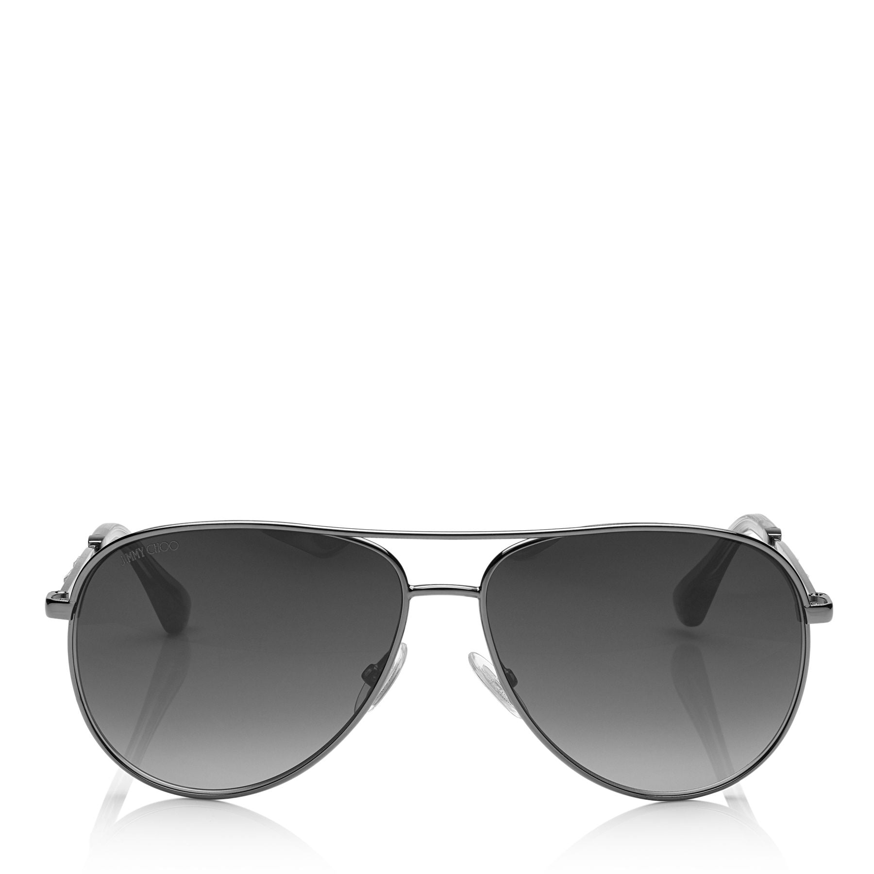 JIMMY CHOO Jewly Dark Ruthenium Aviator Sunglasses ITEM NO. JEWLYS58EKJ1