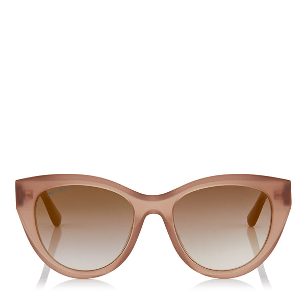 9cd9e97e0cc JIMMY CHOO Chana Opal Nude Cat-Eye Sunglasses with Copper Gold Chain  Detailing ITEM NO ...
