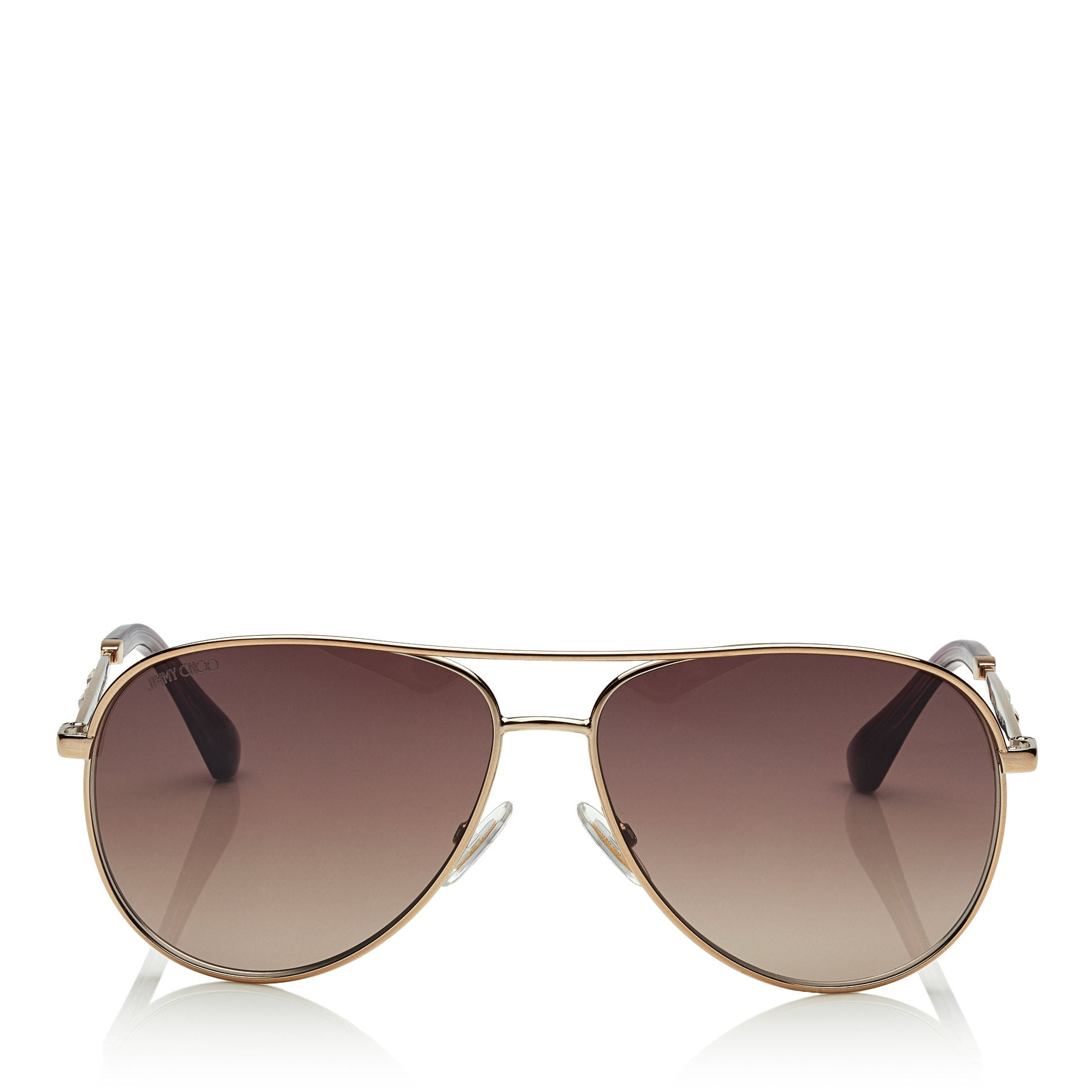 JIMMY CHOO Jewly Bronze Aviator Sunglasses ITEM NO. JEWLYS58E14J