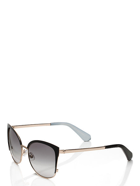 Kate Spade New York Genice Black &. Gold Sunglasses