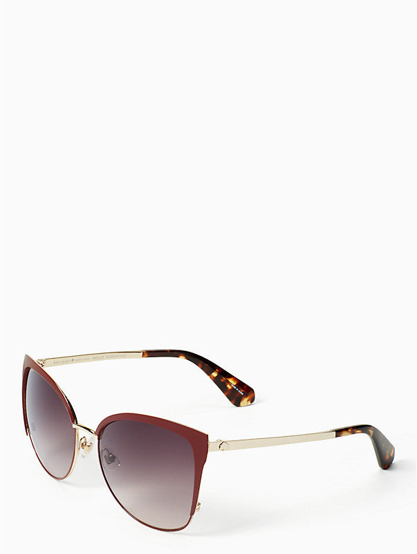 Kate Spade New York Genice Burgundy Sunglasses