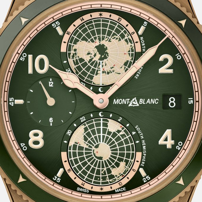 Montblanc 1858 Geosphere Green Dial 42mm LIMITED EDITION Watch Ref. No. 119909