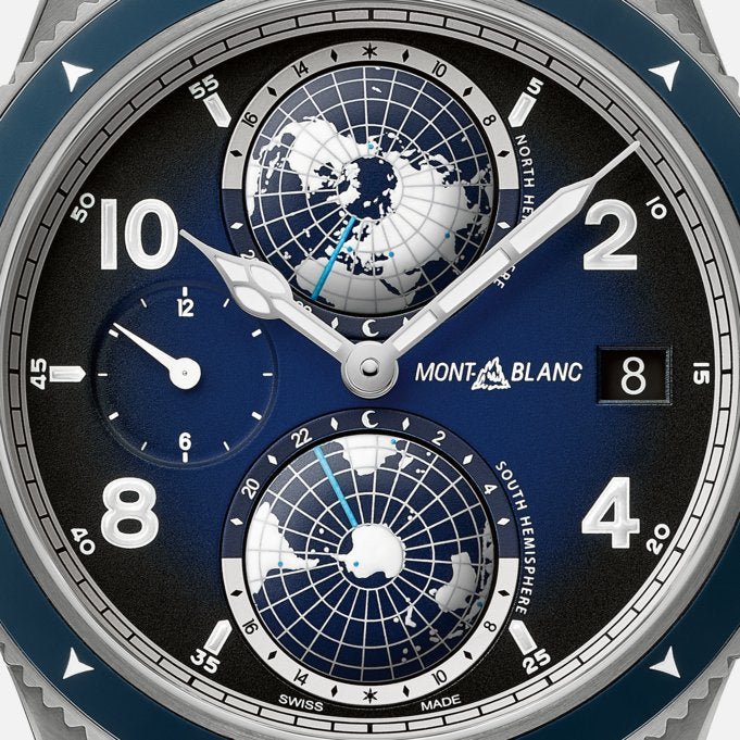 Montblanc 1858 Geosphere Blue Dial 42mm Case Titanium Men's Watch Ref. No. 125567