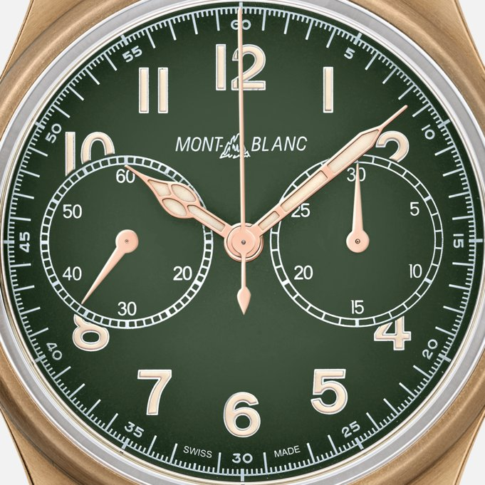 Montblanc 1858 LIMITED EDITION Green Dial Automatic Chronograph Watch Ref. 119908