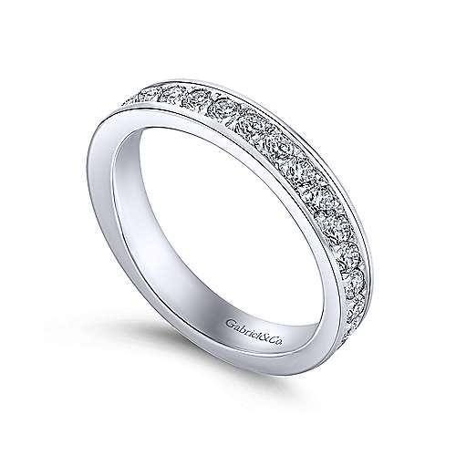 14k White Gold Channel Prong Set Eternity Band  AN11309-6W44JJ