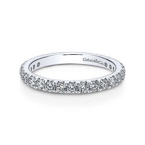 14k White Gold Micro Pav Set Diamond Eternity Band  AN11380-6W44JJ