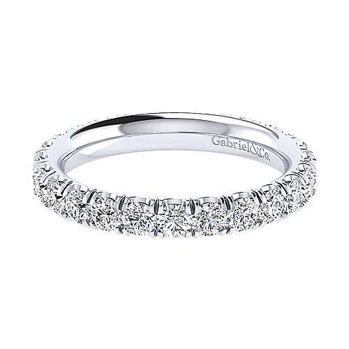 14k White Gold French Pav Set Diamond Eternity Band  AN13815-6W44JJ
