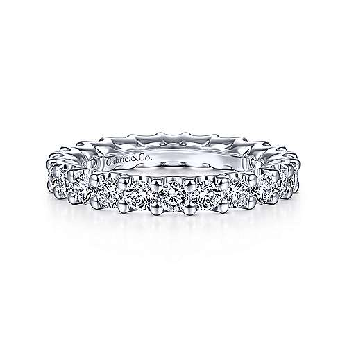 14k White Gold Shared Prong Set Diamond Eternity Band  AN13819-6W44JJ