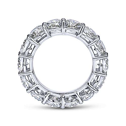 14k White Gold Shared Prong Diamond Eternity Band  AN5264-6W44JJ