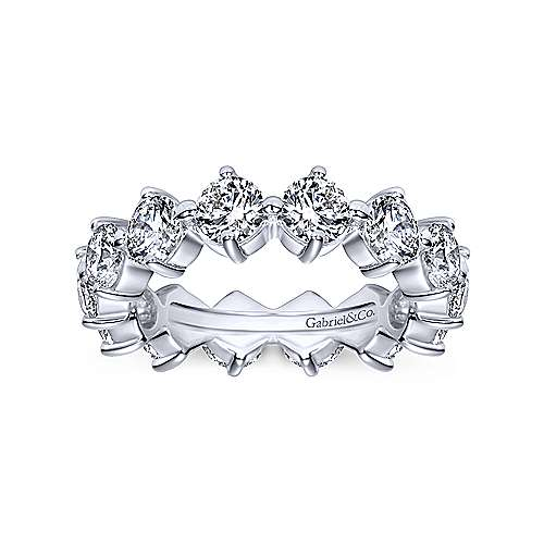 14k White Gold Shared Prong Diamond Eternity Band  AN5268-6W44JJ