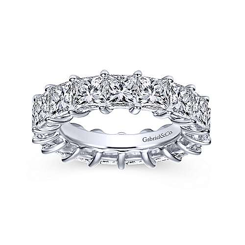14k White Gold Princess Cut Prong Set Eternity Band  AN5272-6W44JJ