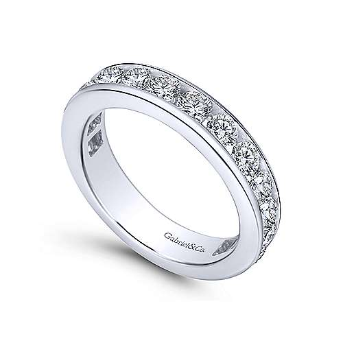 14k White Gold Channel Set Eternity Band  AN5275-6W44JJ