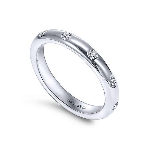 14k White Gold Flush Set Diamond Eternity Band  AN6030-6W44JJ