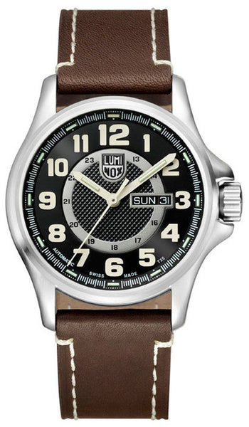 Luminox 1801 Mens Field Automatic Day Date Leather Watch