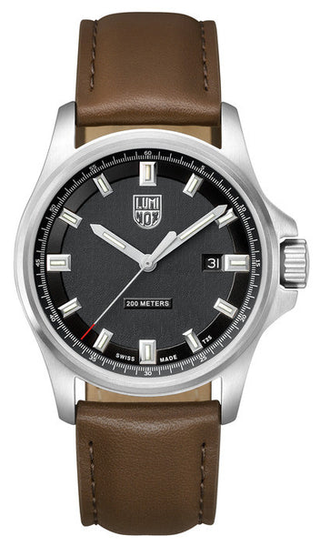 Luminox 1831 Dress Field (42mm) Brown Leather Strap Watch