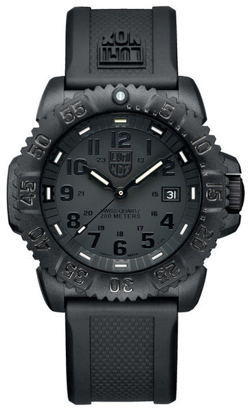 Luminox 3051.BO Mens Navy SEAL Colormark Black Rubber Watch