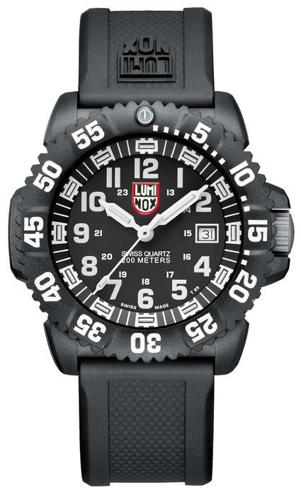 Luminox 3051 Mens Navy SEAL Colormark Rubber Strap Watch