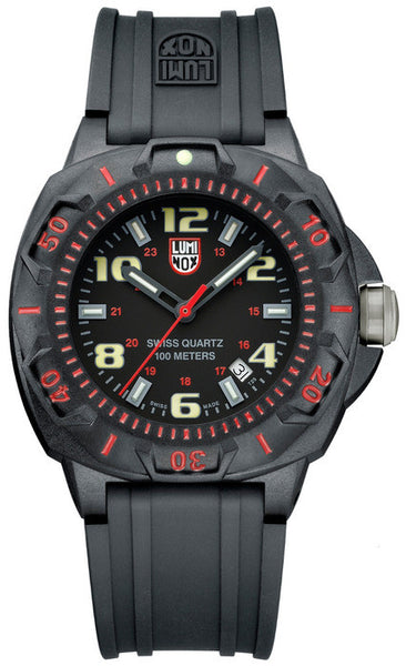 Luminox 0215.SL Mens Black Rubber Strap Watch