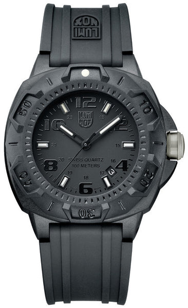 Luminox 0201.BO Mens Sentry Black Rubber Strap Watch